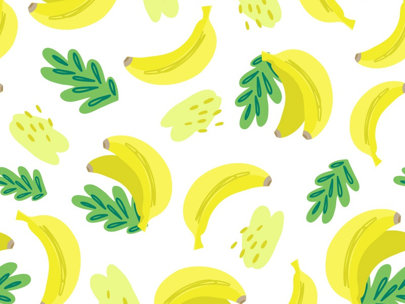 Pattern Banana By Marusha Dribbble Dribbble