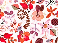 Fire floral pattern