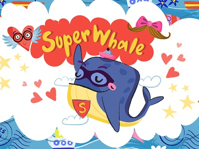 Super Whale Stickers for iMessage marushabelle imessage stickers whale super
