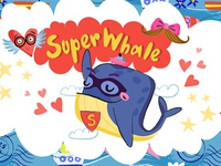 Super Whale Stickers for iMessage