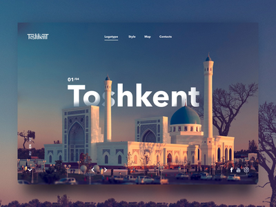 Toshkent site concept (Tashkent) ташкент tashkent toshkent dailywebdesign freelancer webdesign вебдизайнер вебдизайн дизайнсайтов