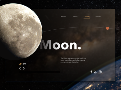 No moon's sky ui darkui moon hire webdesign website