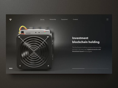 Hero screen for investment group bitcoin crypt blockchain webdesign web design business anim ae design website shopify ux ui animation motion landing site hero investment