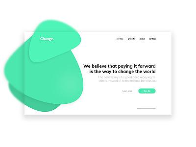 Change - Hero Image digital ui clean modern hero website web design landing page