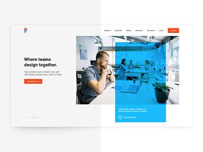 Figma - Landing Page - Redesign user interface dribbble dailyui web design ui redesign minimal clean ui clean hero hero banner landing page