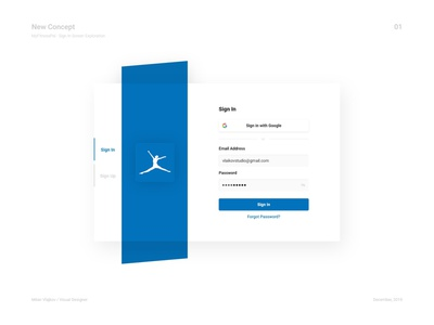 MyFitnessPal - Sign In Screen Exploration + Grid System & Sizes minimal dailyui clean redesign myfitnesspal visual design userinterface user interface uidesign ui  ux ui sizes grid system grid exploration sign in page sign in