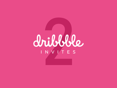 2 Dribbble Invites invite invites invitation dribbble invite dribbble