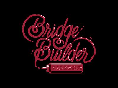 Barbecue Script branding shirt tee typography vector type graphic design apparel illustration