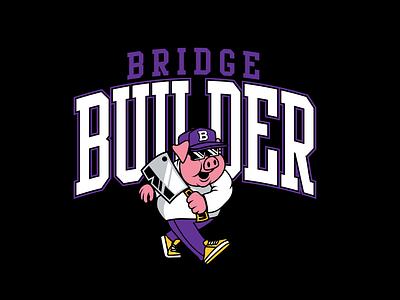 Builder University builder bridge shirt tee branding vector barbecue graphic design apparel illustration