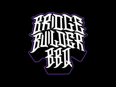 Builder Letter identity shirt tee typography branding type graphic design apparel illustration