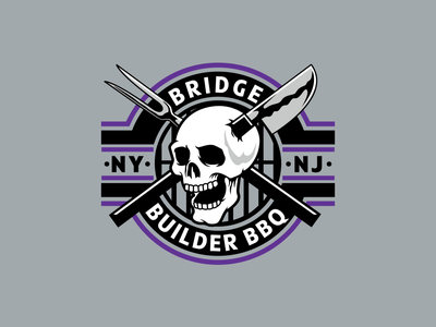 Builder Grill grilling grill barbecue identity shirt tee branding skull type graphic design apparel illustration