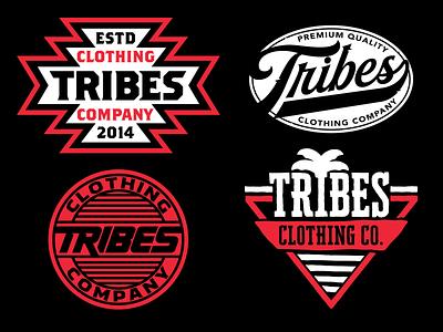 Tribes graphic design logo branding vector type graphic design apparel illustration