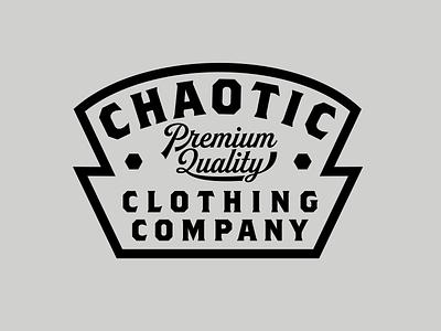 Chaotic Gear Badge graphic design lockups badges logo branding vector type apparel graphic design illustration