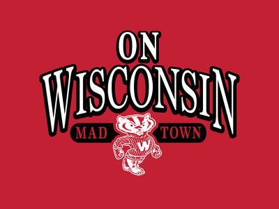 Wisconsin Vintage Graphics football badgers wisconsin graphic design branding vector type apparel graphic design illustration