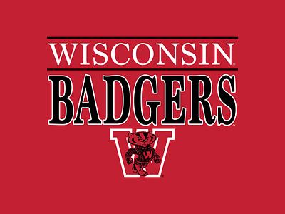Wisconsin Vintage Graphics football badgers wisconsin graphic design logo branding vector type apparel graphic design illustration