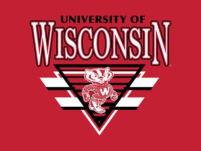 Wisconsin Badgers Graphics football badgers wisconsin graphic design logo branding vector type apparel graphic design illustration