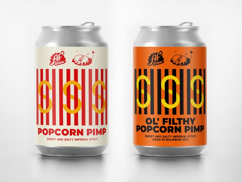AF Brew x Wild Lab Popcorn Pimp aged barrel dollar stout imperial brew can afbrew craft beer