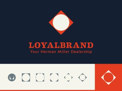 LoyalBrand identity branding minimalist design swiss style embody sayl mirra aeron loyalbrand herman miller logo design