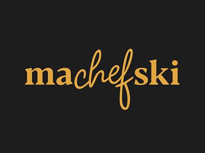 MACHEFSKI-v2 typography chef c logo design