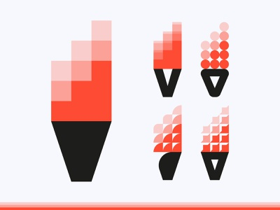 VUUR / FIRE design modernism red v vuur fire logo modernist
