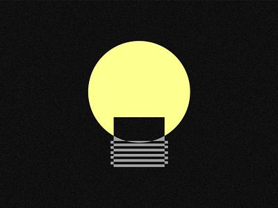 ILLUMINATE illuminate minimalism modernism modernist idea light bulb light illustration design logo