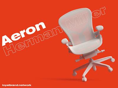 AERON 💥 ergonomic 3d orange chair sayl mirra embody red branding loyalbrand minimalism aeron modernist modernism herman miller design