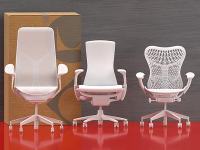 Herman Miller office chairs furniture dimensions render mirra embody aeron herman miller