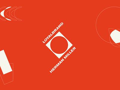LOYALBRAND ART 05 outlines swiss style sand red modernist modernism minimalism loyalbrand logo illustration herman miller design branding bauhaus