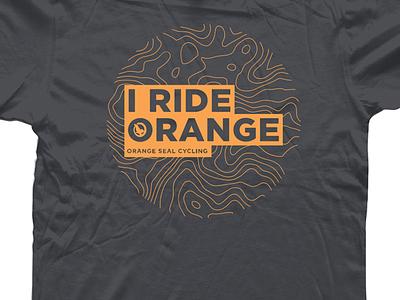 Orange Seal Cycling T-shirt mountain biking logo identity fun recreation bikes outdoors orange branding cycling
