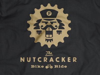The NUTCRACKER Bike Ride identity branding t-shirt fashion bike ride bike christmas holiday