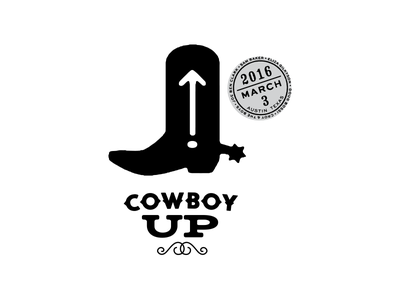 Cowboy Up Identity horse austin vintage cowboy up cowboy texas austin texas western identity logo branding