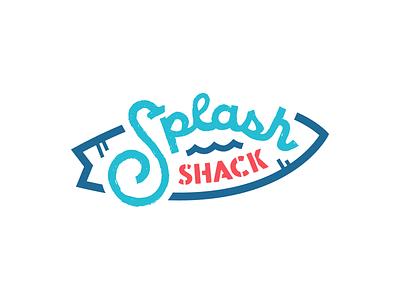 Splash Shack Logo kids water park water design identity logo