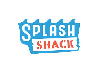 Splash Shack Logo - RunnerUP kids art branding identity kids water park cycling logo