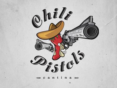 Chili Pistols Logo logo design mexican restaurant food
