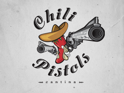 Chili Pistols Logo logo design mexican restaurant food