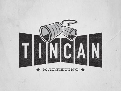 tin can marketing logo by david baker dribbble