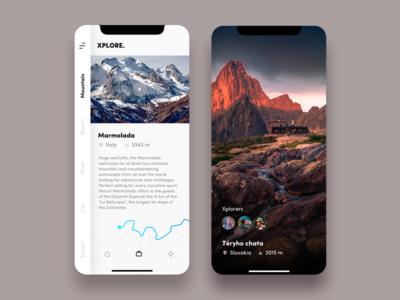 Xplore - Trip planner app concept