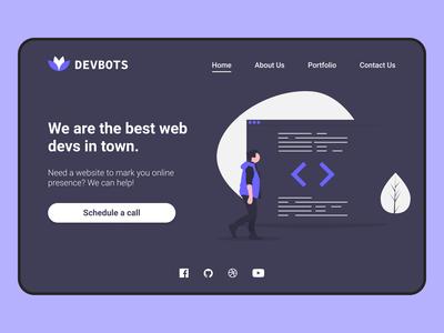 Landing page design - Daily UI