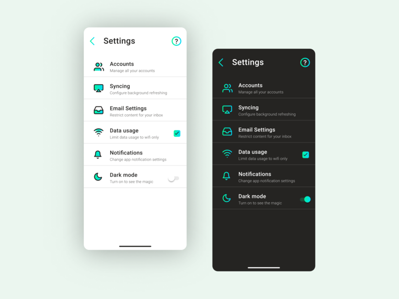App Settings stats app settings adobexd dark mode app design prototype uxdesign minimal ux uidesign interface ui branding