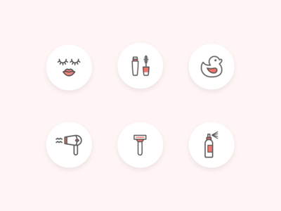 Personal care icon pack