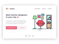 Landing page for interior design