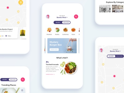 Restaurant Discovery & Food Ordering App illustrations app ux ui food ordering food delivery ios food restaurant