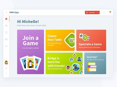 Contract Bridge | Web Game Dashboard UI game ui game desktop web