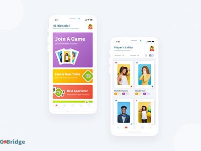 Contract Bridge   iOS Game Dashboard UI card game minimal games game ui ios