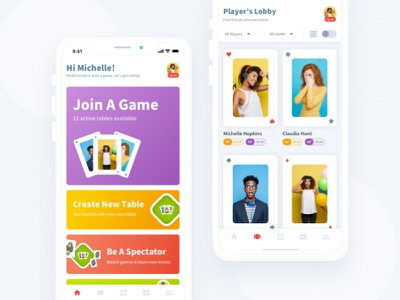 Contract Bridge | iOS Game Dashboard UI card game minimal games game ui ios
