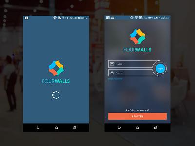 FourWalls mobile app app screens logo designs fourwalls social networking app social networking