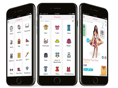 M commerce dribbble icon vector designs app ideas app screens shopping app mobile app mobile commerce mcommerce