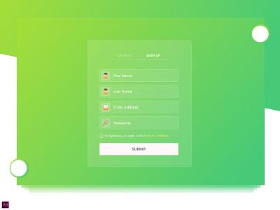 Sign up design web vector ux ui typography logo signup page landing icon design branding app