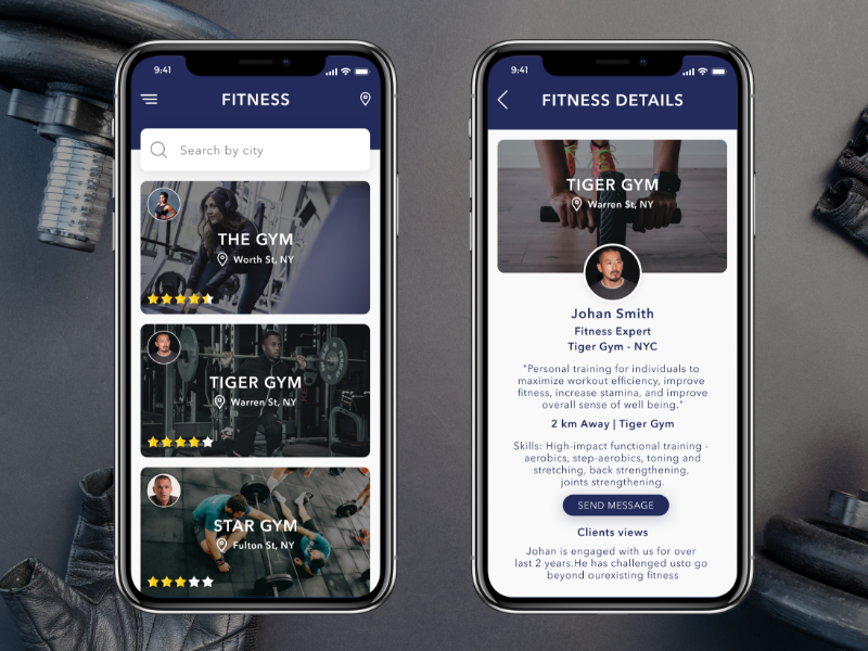 Fitness App by Vikrant Jain for Codiant Software