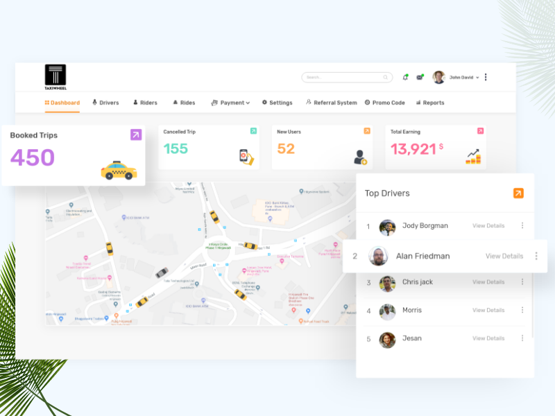Taxi App - Admin Panel by Vikrant Jain for Codiant Software